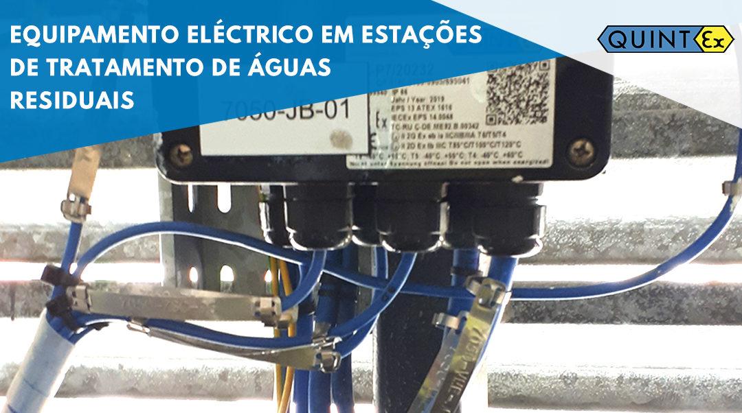 Equipamento eléctrico em estações de tratamento de águas residuais